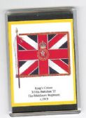 MIDDLESEX REGIMENT COLOURS 1919 LARGE FRIDGE MAGNET